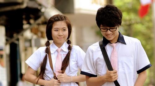 Tình yêu học đường không còn quá xa lạ với các em học sinh